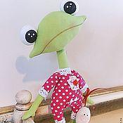 Куклы и игрушки ручной работы. Ярмарка Мастеров - ручная работа Лягушонок Дин и Улитишка. Handmade.