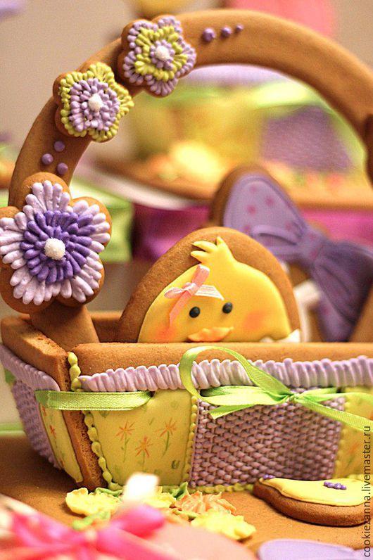 Кулинарные сувениры ручной работы. Ярмарка Мастеров - ручная работа. Купить Пряничная корзинка. Handmade. Зеленый, пряники, пряники в подарок