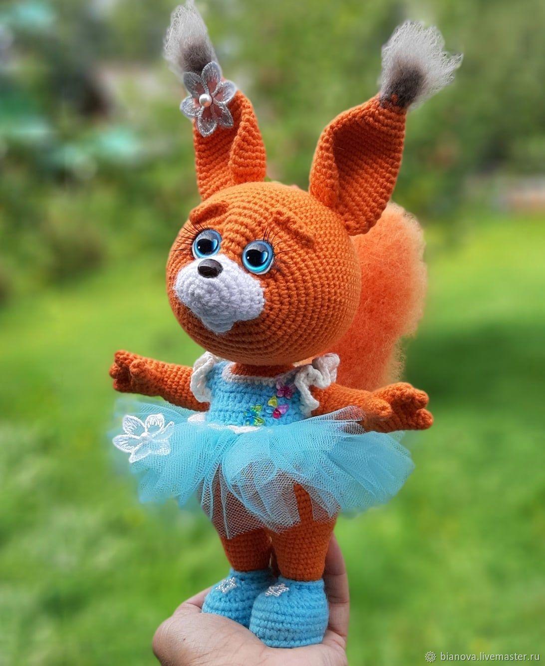 Knitted squirrel, 22 cm, Stuffed Toys, Izhevsk,  Фото №1