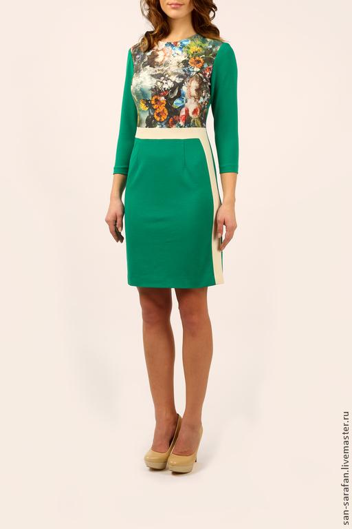 Платья ручной работы. Ярмарка Мастеров - ручная работа. Купить Платье. Handmade. Зеленый, зеленый цвет, весна 2015