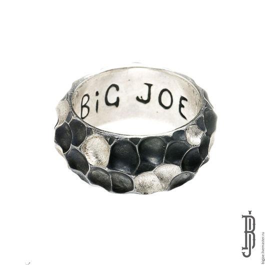 Кольца ручной работы. Заказать кольцо из серебра. Авторское кольцо. Необычное кольцо. BigJoe. Ярмарка Мастеров. Купить кольцо кратер, серебро 925 пробы