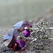 Украшения handmade. Livemaster - original item Earrings ROMANTIQUE - Swarovski crystals. Handmade.