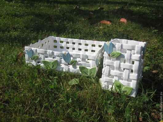 """Ванная комната ручной работы. Ярмарка Мастеров - ручная работа. Купить Керамический набор для ванной комнаты """"Летний"""". Handmade. для дома"""