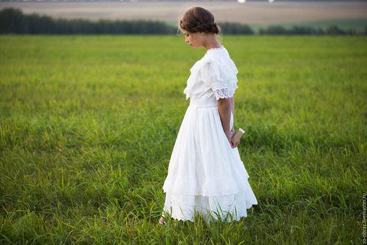 """Платья ручной работы. Ярмарка Мастеров - ручная работа. Купить Белое кружевное платье в винтажном стиле """"Мария"""". Handmade. Белый"""
