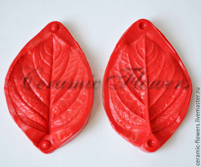 Silicone mold (Weiner) leaf hydrangea,double-sided,medium, Molds for making flowers, Rostov-on-Don,  Фото №1