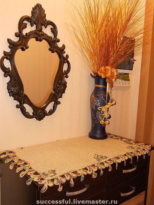 Home Textiles & Carpets handmade. Livemaster - handmade. Buy Napkin-tablecloth 'Peacock feathers'.Cozy kitchen, 80% polyamide