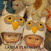 Работы для детей, ручной работы. Ярмарка Мастеров - ручная работа шапка сова. Handmade.