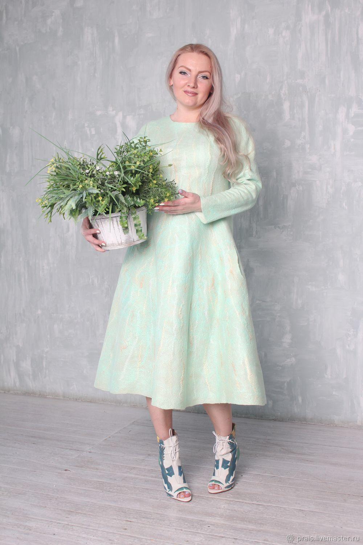 """Авторское валяное платье """"lily of the valley"""", Платья, Новосибирск, Фото №1"""