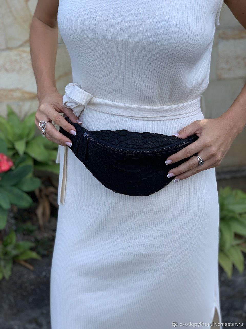 Klar Python leather handbag, Classic Bag, Moscow,  Фото №1