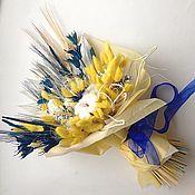 Букеты ручной работы. Ярмарка Мастеров - ручная работа Яркий букет из сухоцветов Цветочный подарок. Handmade.