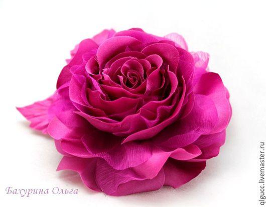 Броши ручной работы. Ярмарка Мастеров - ручная работа. Купить Роза Николь(различные цвета). Handmade. Комбинированный, цветы из ткани