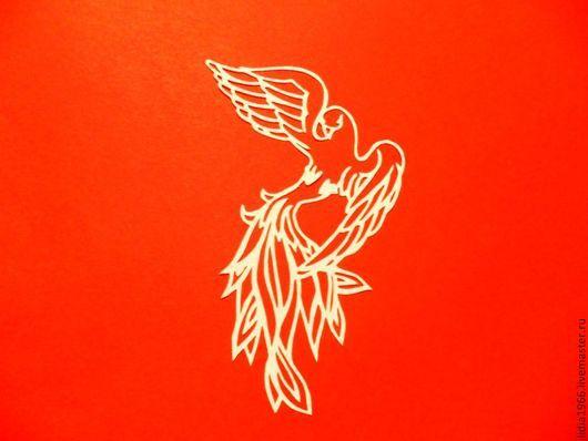 Аппликации, вставки, отделка ручной работы. Ярмарка Мастеров - ручная работа. Купить Ажурная вырубка,, птица Феникс,,. Handmade. Шаблон