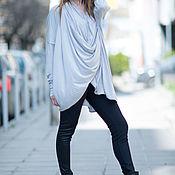 Одежда handmade. Livemaster - original item Grey, long sleeve knitted tunic - TP0492TR. Handmade.