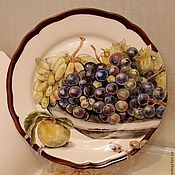 Посуда handmade. Livemaster - original item The painted porcelain.Painted porcelain plates