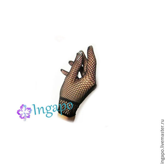 Другие виды рукоделия ручной работы. Ярмарка Мастеров - ручная работа. Купить Перчатки сеточка черные. Handmade. Черный, кружево