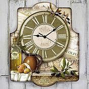 Для дома и интерьера ручной работы. Ярмарка Мастеров - ручная работа часы настенные Тоскана. Handmade.