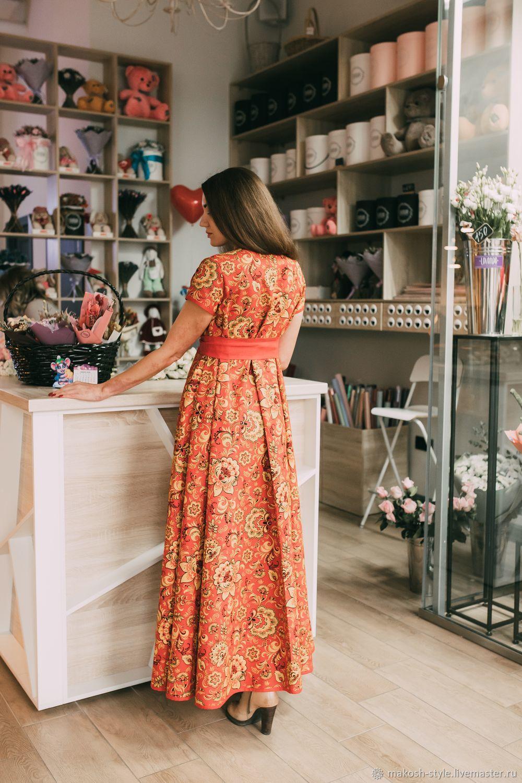 """Нарядное яркое платье в пол """"Хохлома"""", Платья, Омск,  Фото №1"""
