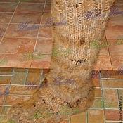 Аксессуары handmade. Livemaster - original item Warm thick socks dog hair from home .. Handmade.