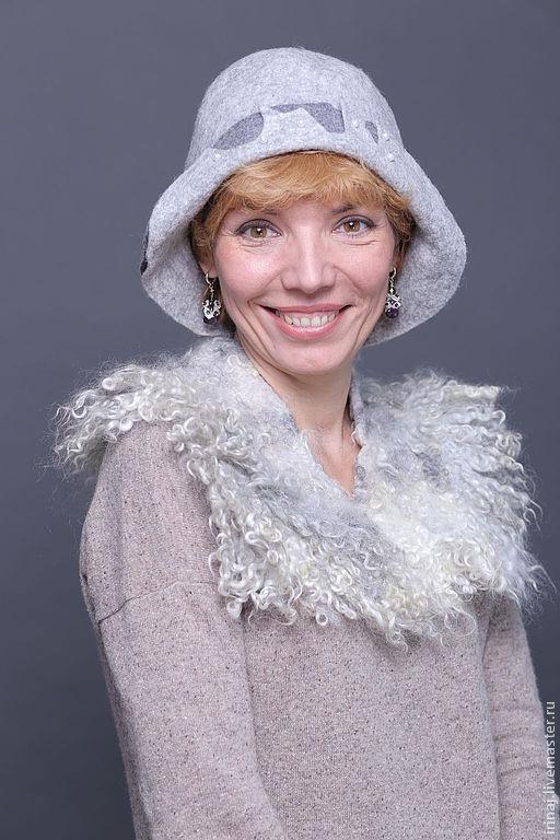 """Шляпы ручной работы. Ярмарка Мастеров - ручная работа. Купить валяная шляпка """"Туман"""". Handmade. Шляпка, элегантная, романтичный стиль"""