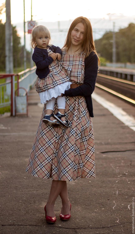 Комплект платьев для мамы и дочки, Платья, Москва,  Фото №1