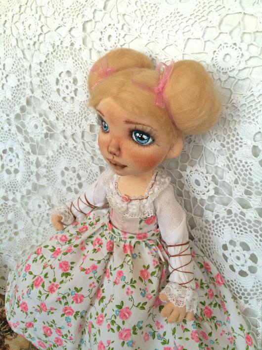 Коллекционные куклы ручной работы. Ярмарка Мастеров - ручная работа. Купить Кукла авторская Анастасия. Handmade. Розовый, белый, шерсть