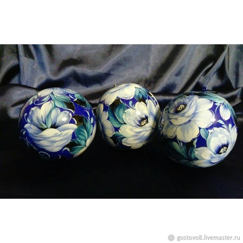 Новогодние деревянные шары, Елочные игрушки, Калининград, Фото №1