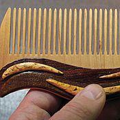 Сувениры и подарки handmade. Livemaster - original item Wooden comb in the technique of bulk of an application