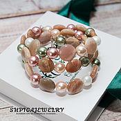 Украшения handmade. Livemaster - original item Women`s bracelet talisman with natural sun stone. Handmade.