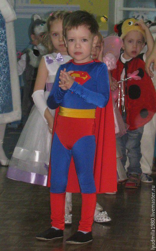 Детские карнавальные костюмы ручной работы. Ярмарка Мастеров - ручная работа. Купить Костюм Супермена на 3-4г. Handmade.