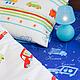 """Детская ручной работы. Комплект в кроватку детское постельное белье """"Машинки"""". Ночная Сказка (Лидия). Ярмарка Мастеров. В детскую"""