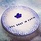 Свадебные аксессуары ручной работы. Ярмарка Мастеров - ручная работа. Купить Тарелочка для колец. Handmade. Тёмно-синий, ангелок