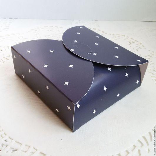 Упаковка ручной работы. Ярмарка Мастеров - ручная работа. Купить Коробочка конвертик черная12х12х4см. Handmade. Коробка, упаковка, подарочная коробка