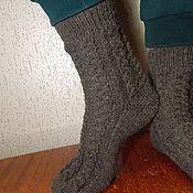 Аксессуары handmade. Livemaster - original item socks mens Graphite. Handmade.