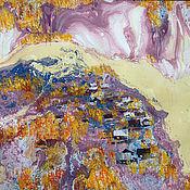 Картины и панно handmade. Livemaster - original item Mixed Media painting Autumn on White / Graphic Painting. Handmade.