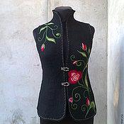 Одежда ручной работы. Ярмарка Мастеров - ручная работа жилет валяный ручная работа. Handmade.