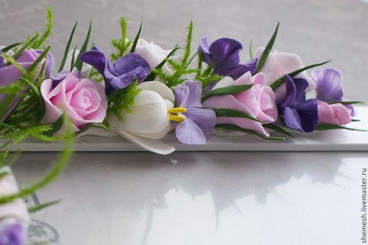 Фоторамки ручной работы. Ярмарка Мастеров - ручная работа. Купить Фоторамка с розами и гортензией. Handmade. Розовый, фотография