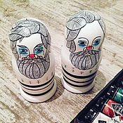 """Куклы и игрушки ручной работы. Ярмарка Мастеров - ручная работа Матрешка авторская """"Клоун"""". Handmade."""