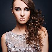 Одежда handmade. Livemaster - original item Evening lace dress grey. Prom dress. Evening dress.. Handmade.