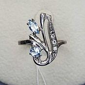 Украшения handmade. Livemaster - original item Silver ring with topaz and cubic zirconia. Handmade.