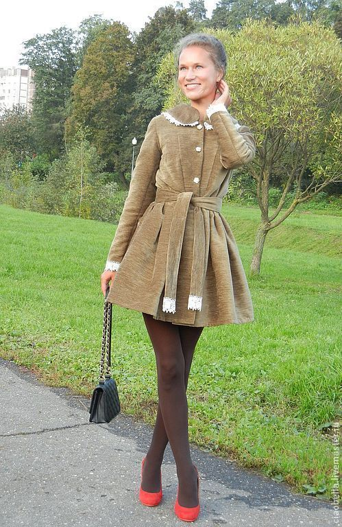 """Верхняя одежда ручной работы. Ярмарка Мастеров - ручная работа. Купить Пальто """"La femme charmant"""". Handmade. Коричневый, ретро"""