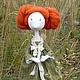 Куклы тыквоголовки ручной работы. Ярмарка Мастеров - ручная работа. Купить Кукла Рыжик. Handmade. Оливковый, кукла в подарок, атмосфера