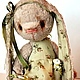 Мишки Тедди ручной работы. Ярмарка Мастеров - ручная работа. Купить Зая нежная моя. Handmade. Зеленый, подарки для женщин