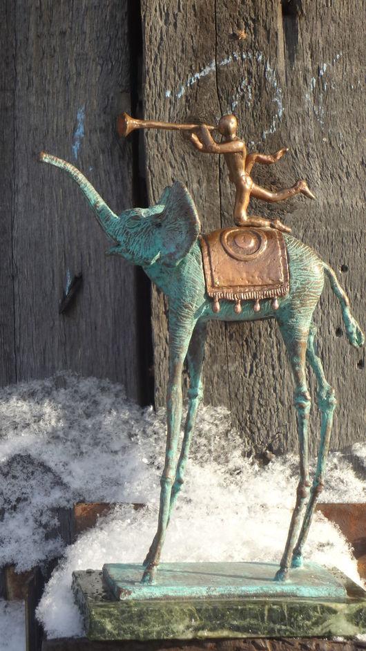 """Статуэтки ручной работы. Ярмарка Мастеров - ручная работа. Купить """"Ликующий Слон"""" Дали. Handmade. Скульптура, литье из бронзы"""