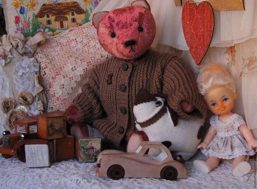 Мишки Тедди ручной работы. Ярмарка Мастеров - ручная работа. Купить Мои любимые игрушки. Handmade. Бордовый, винтажный стиль