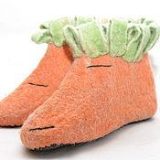 """Обувь ручной работы. Ярмарка Мастеров - ручная работа Тапочки """"Морковки"""". Handmade."""