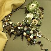 Украшения handmade. Livemaster - original item Dreams about an Olive Grove. Necklace, pendant, earrings, brooch, flower, flowers. Handmade.