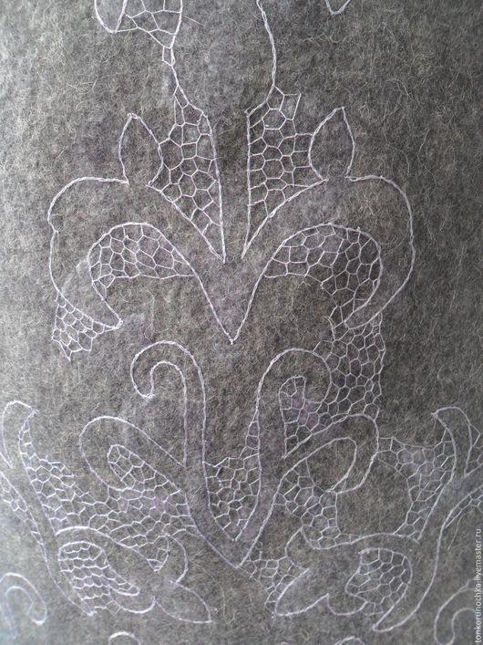"""Юбки ручной работы. Ярмарка Мастеров - ручная работа. Купить Валяная юбка """"Иней"""". Handmade. Серый, винтажное кружево"""