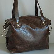 Сумки и аксессуары handmade. Livemaster - original item Bag leather women`s Bag handbag. Brown vintage. Handmade.