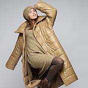 Одежда handmade. Livemaster - original item Coat quilted dark beige quilt (art. 6223). Handmade.