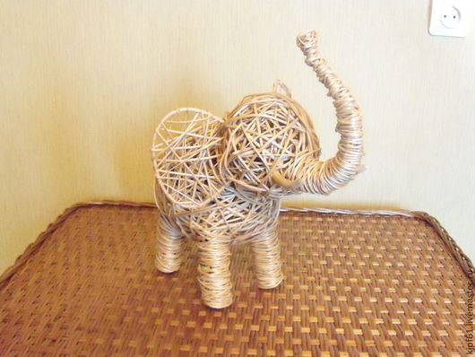 """Статуэтки ручной работы. Ярмарка Мастеров - ручная работа. Купить Интерьерная игрушка """"Слон"""". Handmade. Бежевый, оформление интерьера, Декор"""